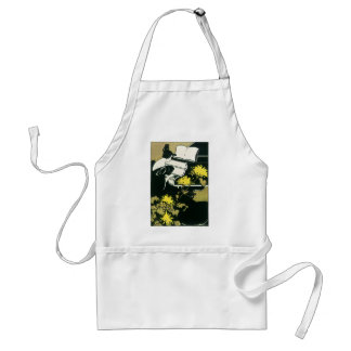 Vintage Music, Miss Traumerei Playing Piano, Reed Adult Apron
