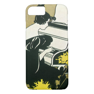 Vintage Music, Miss Traumerei Playing Piano, Reed iPhone 7 Case