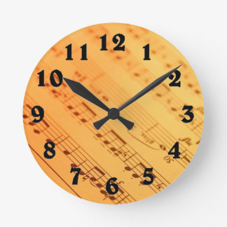 Vintage music note paper clock