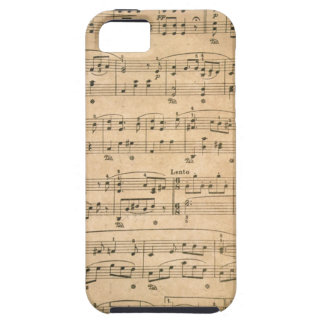 Vintage Music Notes iPhone 5 case cover