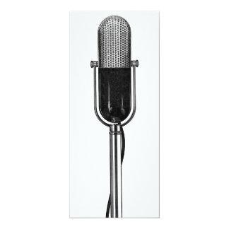 Vintage Music, Old Fashioned Retro Microphone Custom Invites