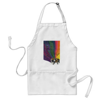 Vintage Music Rainbow, Man and Woman Dancers Adult Apron