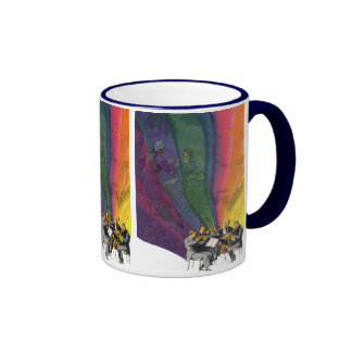 Vintage Music Rainbow, Man and Woman Dancers Mugs