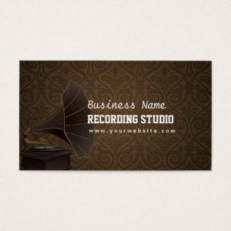 Vintage Music Recording Studio Business Card