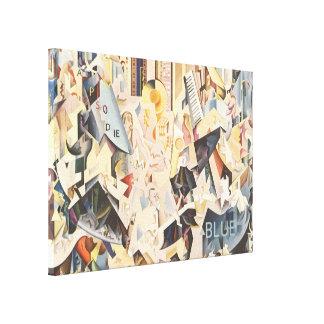 Vintage Music, Rhapsody in Blue Art Deco Jazz Canvas Prints