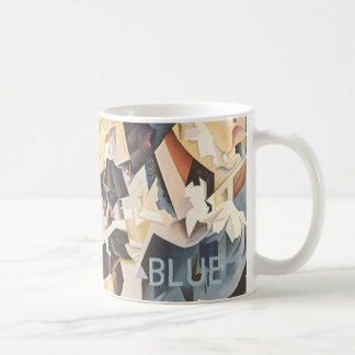 Vintage Music, Rhapsody in Blue Art Deco Jazz Coffee Mug