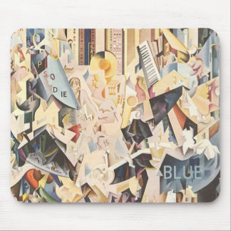 Vintage Music, Rhapsody in Blue Art Deco Jazz Mouse Pad
