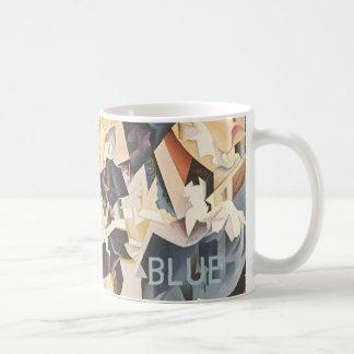 Vintage Music, Rhapsody in Blue Art Deco Jazz Basic White Mug