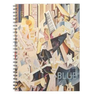 Vintage Music, Rhapsody in Blue Art Deco Jazz Note Books