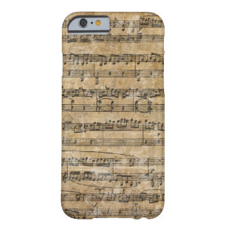 Vintage Music Score Barely There iPhone 6 Case