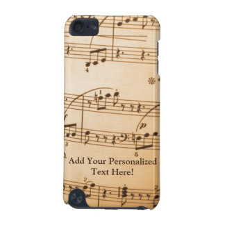 Vintage Music Score Custom iPod Touch iPod Touch (5th Generation) Covers