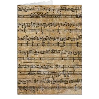 Vintage Music Sheet Card