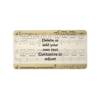Vintage Music Sheet Label
