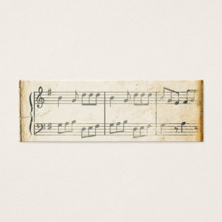 Vintage Music Sheet Mini Business Card
