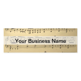 Vintage Music Sheet Pack Of Skinny Business Cards