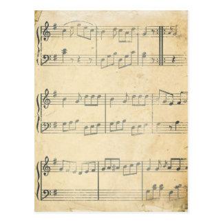 Vintage Music Sheet Postcard