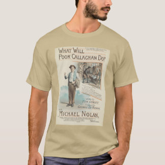 Vintage Music Song Sheet Poor Callaghan Chorus T-Shirt