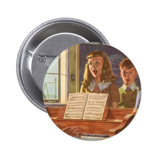 Vintage Music Teacher Teaching Students to Sing Pins