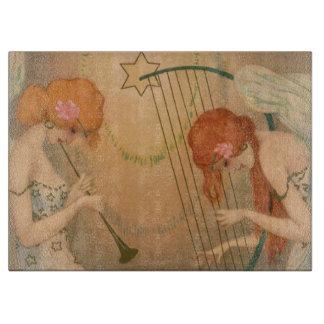 Vintage Music Victorian Angel Musicians Flute Harp Cutting Boards