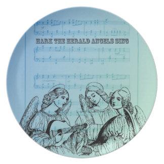 Vintage Musical Angels Plate