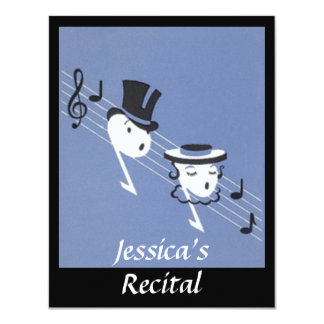 Vintage Musical Notes Choir Caroling INVITATION