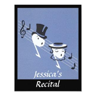 "Vintage Musical Notes Choir Caroling INVITATION 4.25"" X 5.5"" Invitation Card"