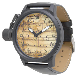 vintage musical notes watch