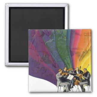Vintage Musical Rainbow, Man Woman Dancing Magnet