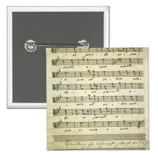 Vintage Musical Score 1810 Antique Sheet Music Pins