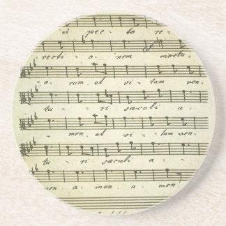 Vintage Musical Score 1810; Antique Sheet Music Drink Coaster