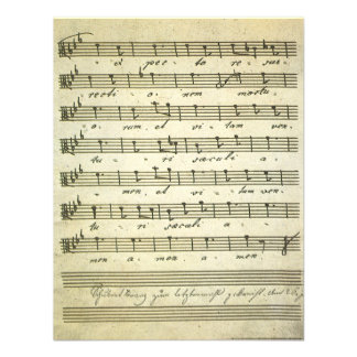 Vintage Musical Score 1810 Antique Sheet Music Personalized Invite