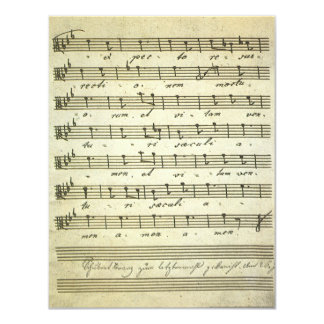 Vintage Musical Score 1810; Antique Sheet Music Personalized Invite