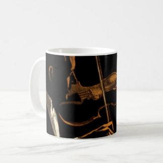 Vintage Musician, Violinist Playing Violin Music Coffee Mug