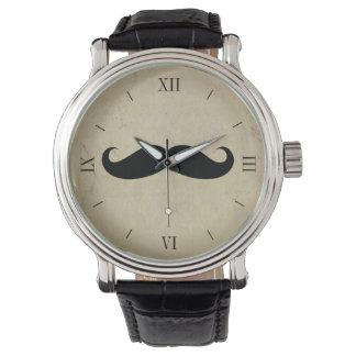 Vintage Mustache Men's Watch