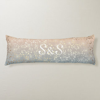 Vintage Muted 1920 Glam Gold Star Foil Sparkle Body Cushion