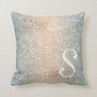 Vintage Muted 1920 Glam Gold Star Foil Sparkle Cushion
