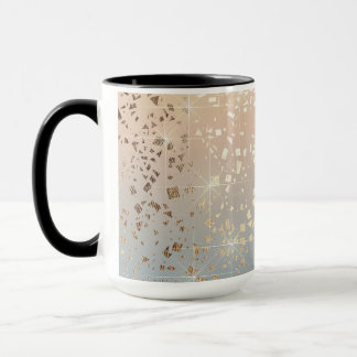 Vintage Muted 1920 Glam Gold Star Foil Sparkle Mug