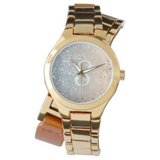 Vintage Muted 1920 Glam Gold Star Foil Sparkle Watch
