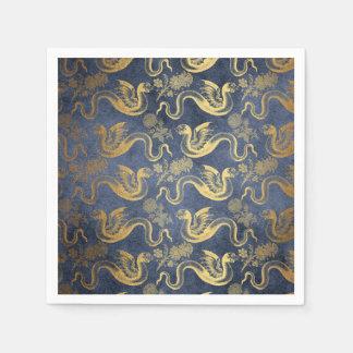 Vintage Mythology Fantasy Dragon Wallpaper Disposable Napkin
