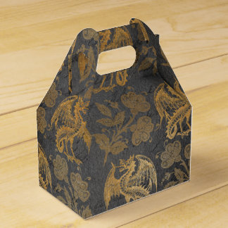Vintage Mythology Fantasy Dragon Wallpaper Favour Box