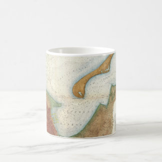 Vintage Nantucket Harbor Map Coffee Mug