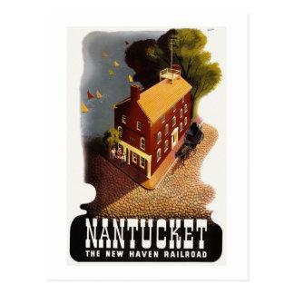 Vintage Nantucket MA Postcard