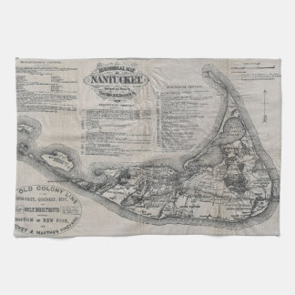 Vintage Nantucket Map Tea Towel