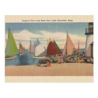 Vintage Nantucket Mass. Brant Point Light Postcard