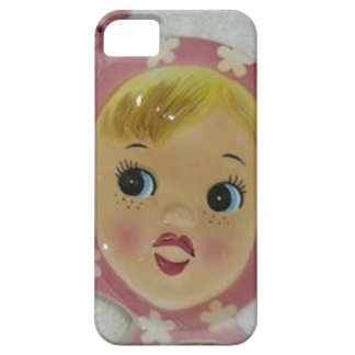 Vintage Napco Miss Cutie Pie Pink Retro Phone Case