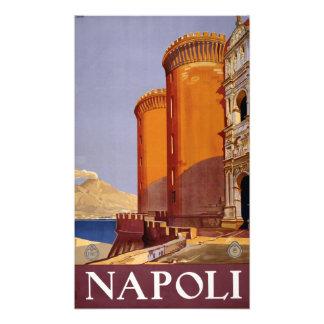Vintage Napoli Italia Naples Italy Travel Photo Print