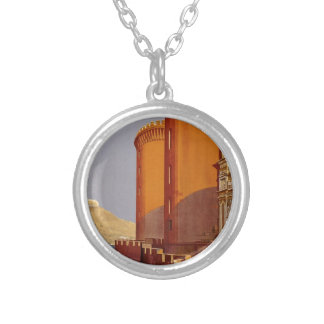 Vintage Napoli Travel Silver Plated Necklace