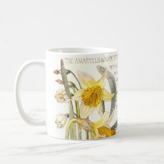 Vintage Narcissus Wildflower Flowers Mug