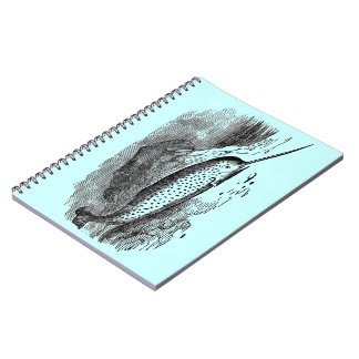 Vintage Narwhal Notebook