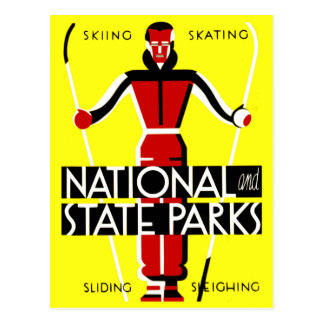 Vintage National and State Parks WPA Travel Postcard